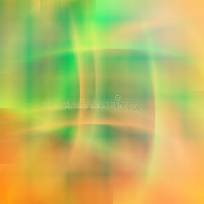 Teste padrão vívido verde alaranjado do fundo da cor de Blured foto de stock royalty free