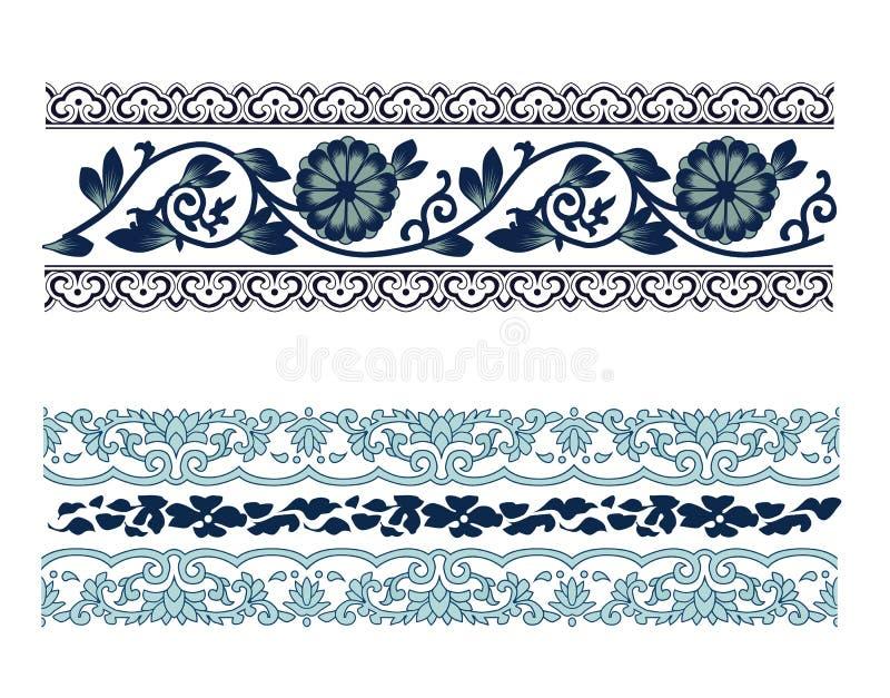 Teste padrão velho do laço ilustração royalty free