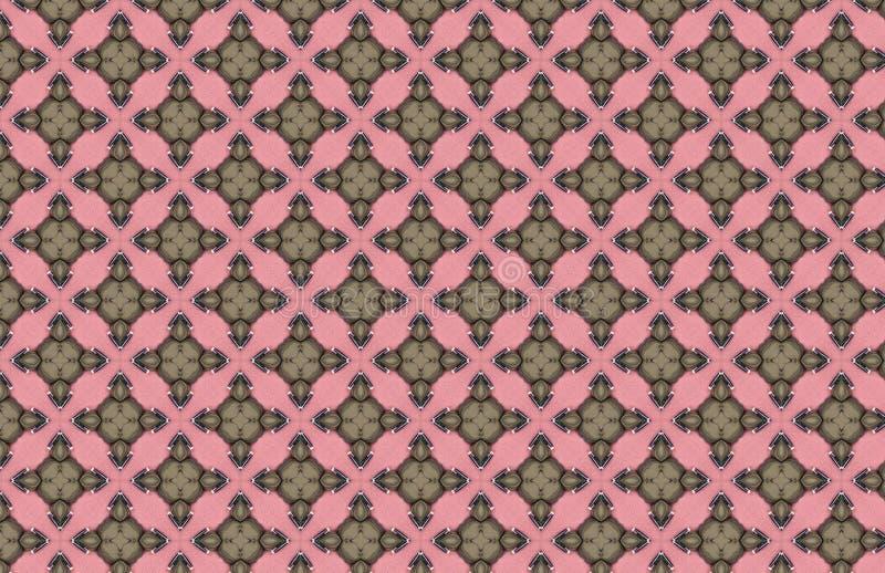Teste padrão verde de Art Deco Pink Geometric Design ilustração stock