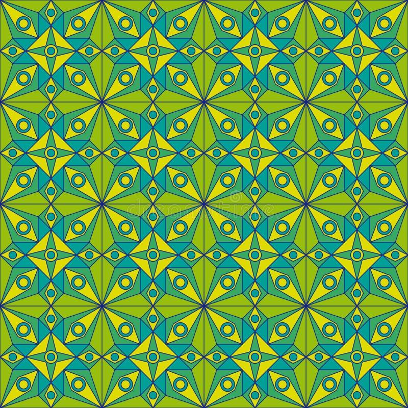 Teste padrão verde de Jugendstil ilustração royalty free