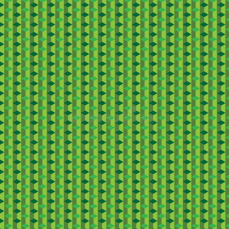 Teste padrão verde do cubo imagens de stock