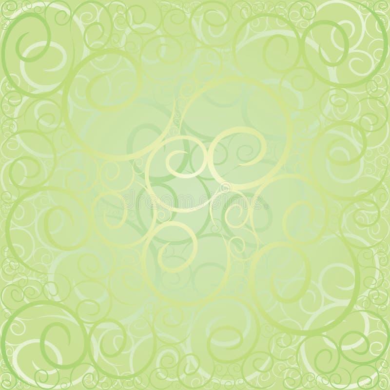 Teste padrão verde do redemoinho ilustração royalty free