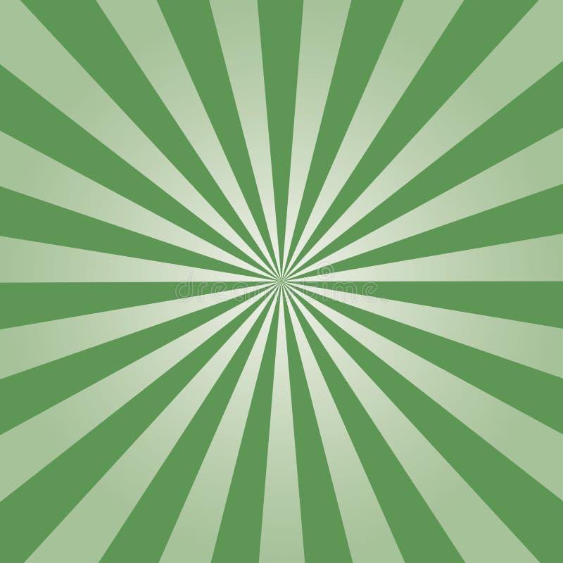 Teste padrão verde do Sunburst Ilustração do vetor ilustração royalty free