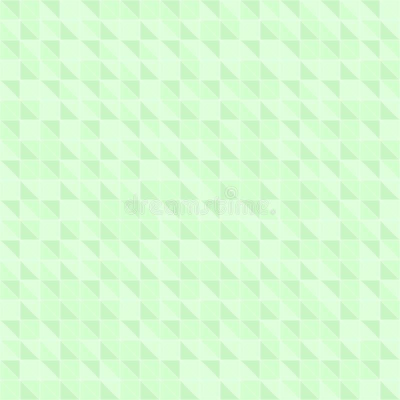 Teste padrão verde do triângulo direito Fundo sem emenda do vetor ilustração stock