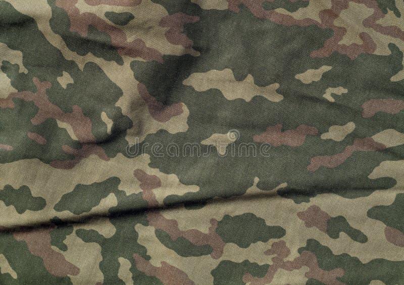 Teste padrão verde e marrom de pano do camoufklage da cor ilustração royalty free