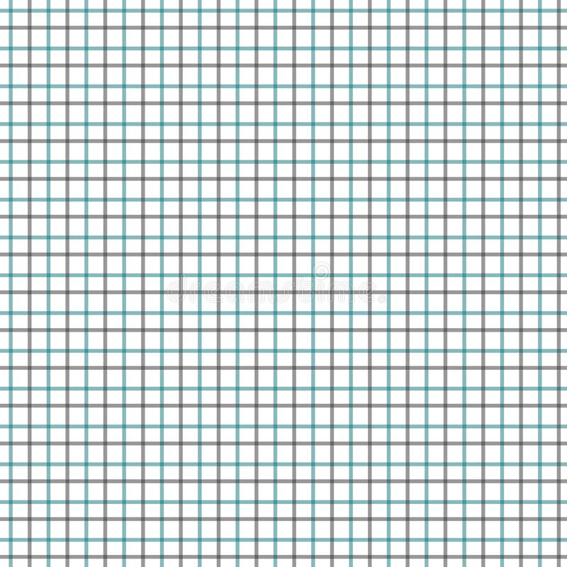 Teste padrão verde e preto da verificação de Tattersall Tela de matéria têxtil da forma da camisa dos homens Repetindo o teste pa ilustração do vetor
