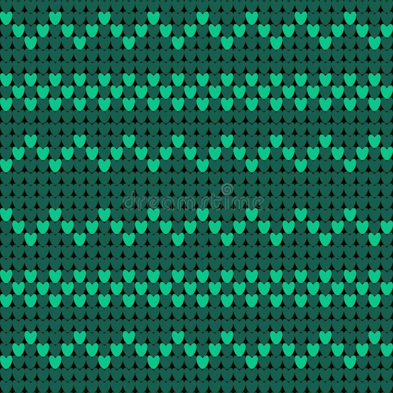 Teste padrão verde feito malha Teste padrão sem emenda do vetor realístico da textura da malha Textura infinita para o papel de p ilustração royalty free