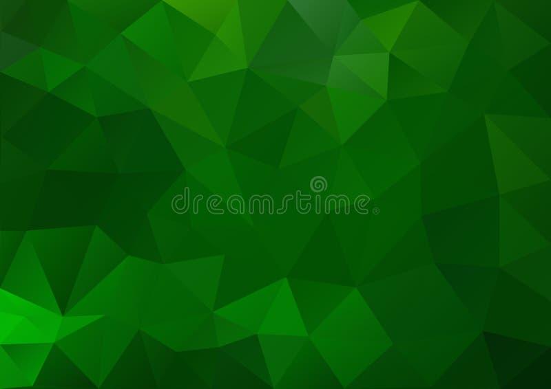 Teste padrão verde geométrico ilustração royalty free