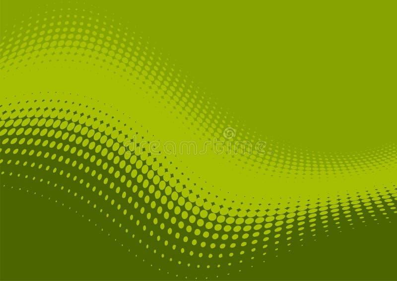 Teste padrão verde ondulado   ilustração royalty free