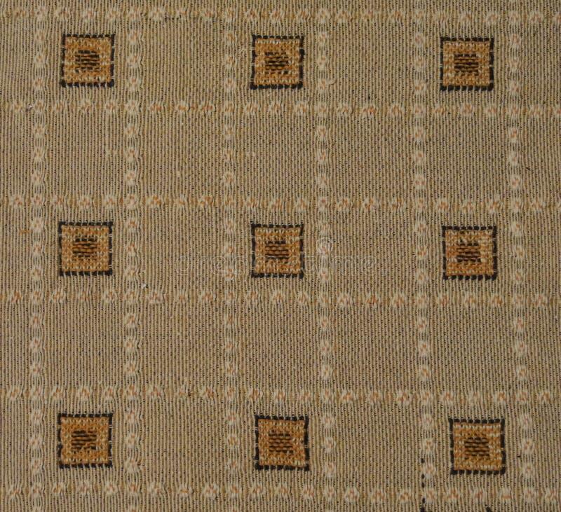 Teste padrão verificado - toalha de mesa de linho fotos de stock royalty free