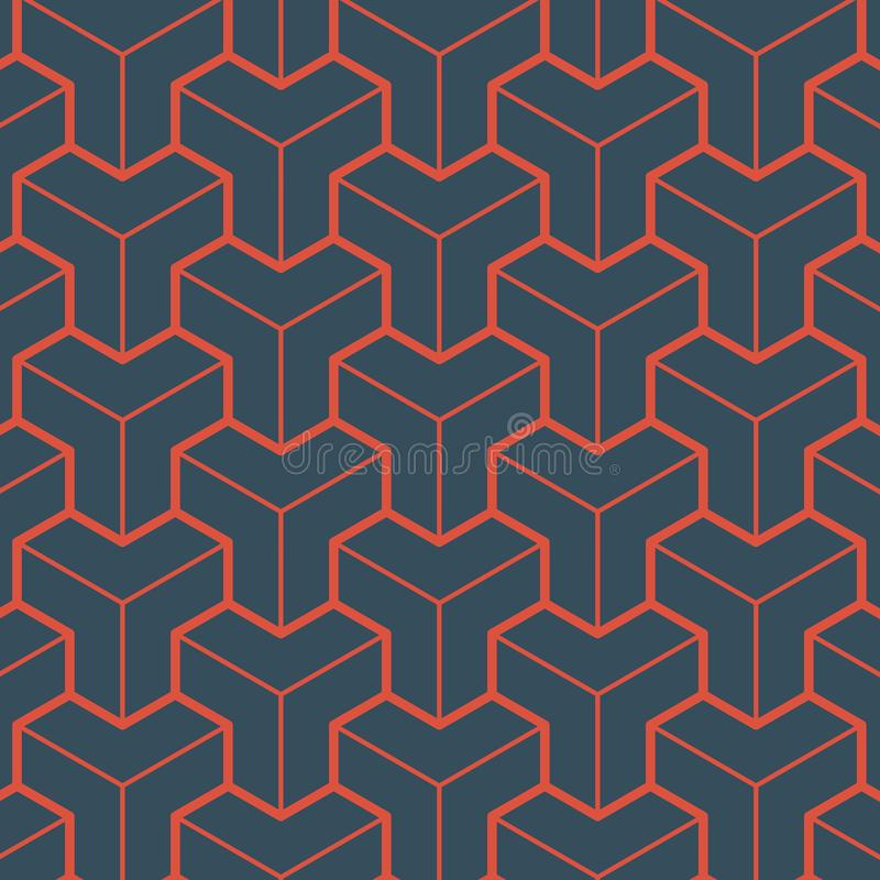 Teste padrão vermelho da geometria ilustração royalty free