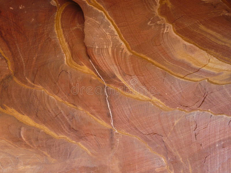 Teste padrão vermelho da rocha