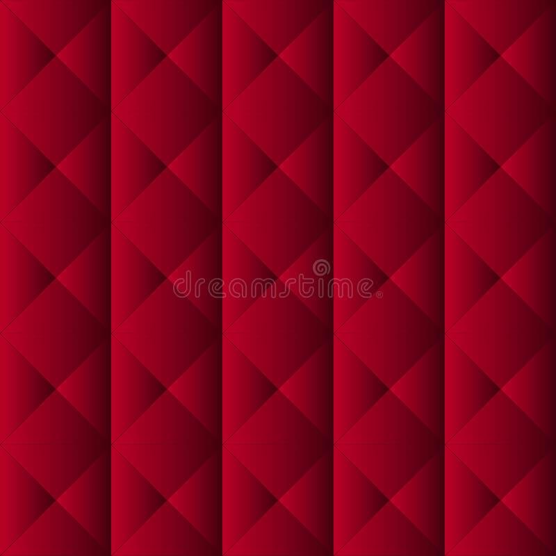Teste padrão vermelho de upholstery ilustração stock