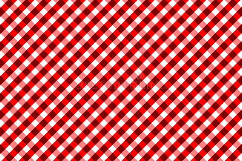 Teste padrão vermelho do guingão Textura do rombo/quadrados para - a manta, toalhas de mesa, roupa, camisas, vestidos, papel, fun ilustração royalty free
