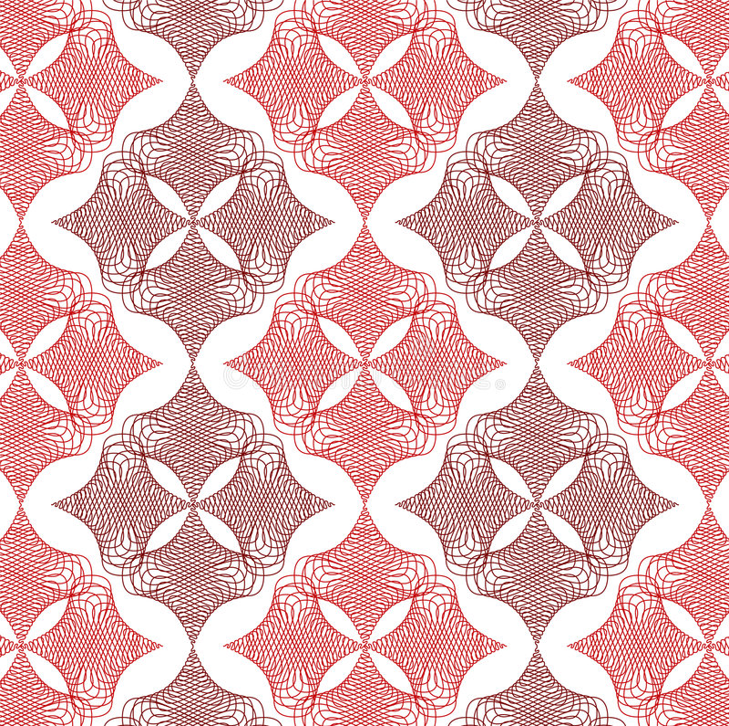 Teste padrão vermelho do laço do diamante da torção ilustração do vetor