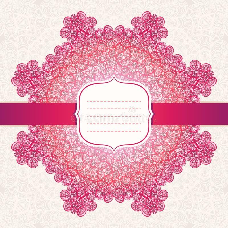 Teste padrão vermelho do sumário do círculo ilustração do vetor