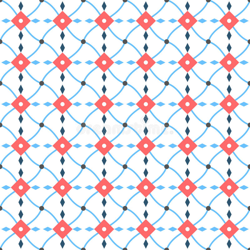 Teste padrão vermelho e azul abstrato ilustração royalty free