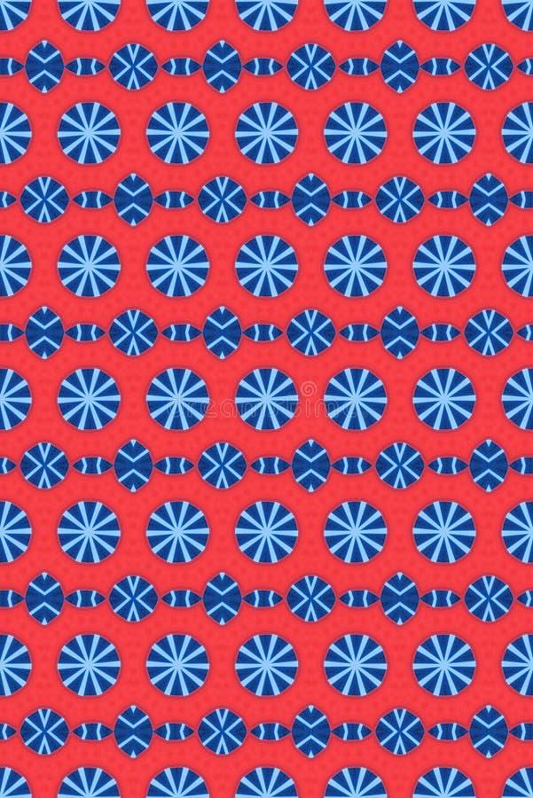 Teste padrão vermelho e azul do círculo imagens de stock royalty free