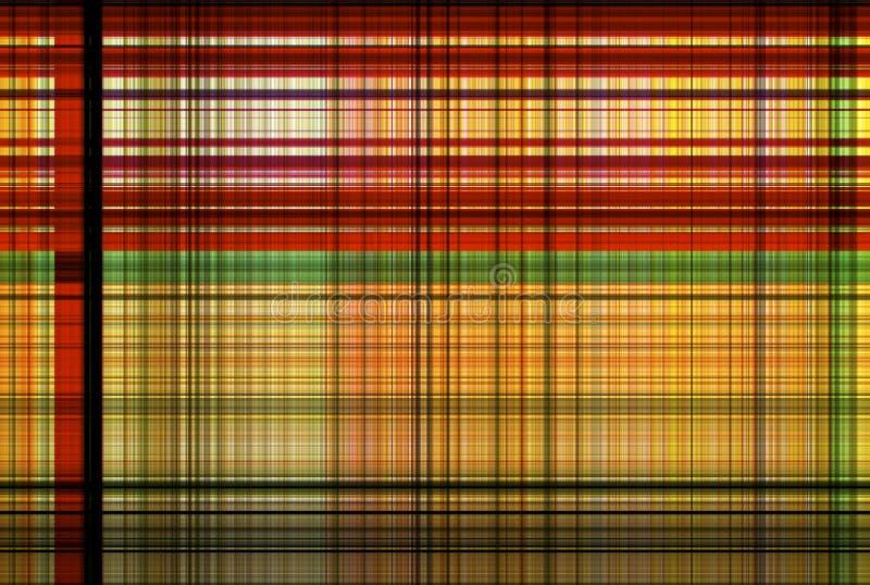 Teste padrão vermelho e verde da tartã transversal - tabela da roupa da manta imagem de stock
