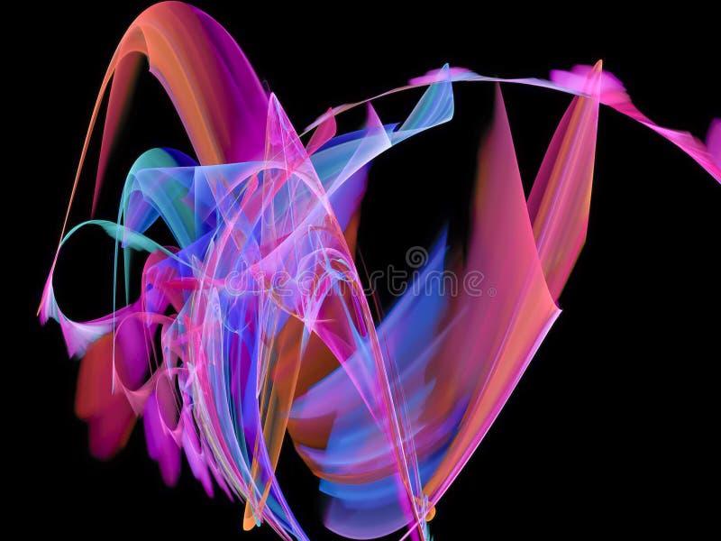 Teste padrão vibrante abstrato do fractal do projeto do redemoinho da folha de prova digital foto de stock