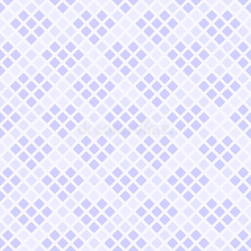 Teste padrão violeta do diamante com corações Vetor sem emenda ilustração do vetor