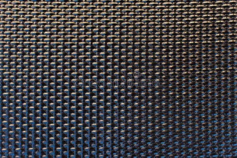 Teste padrão wattled plástico da textura da grade do preto do close-up fotografia de stock royalty free