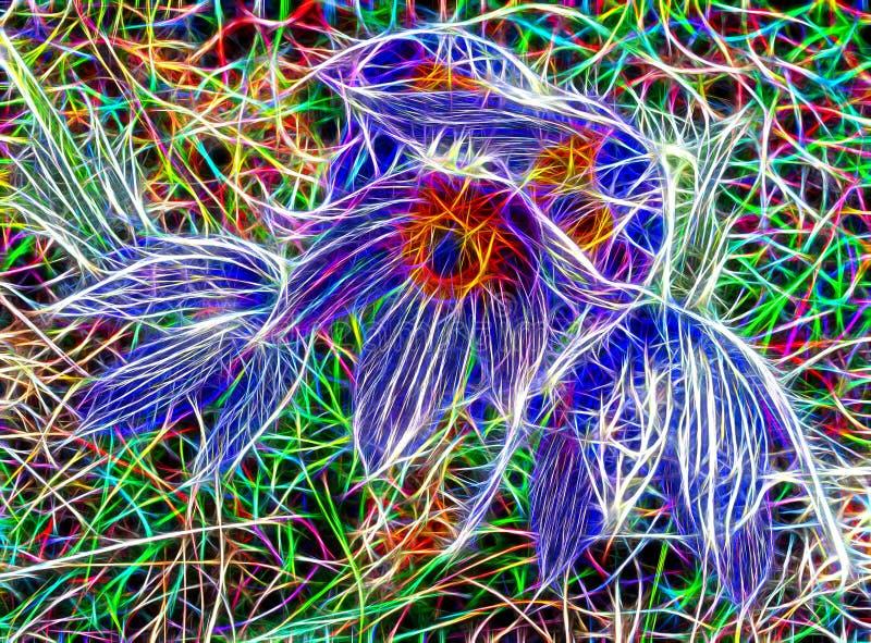 Teste padr?o bonito abstrato do fractal imagem de stock