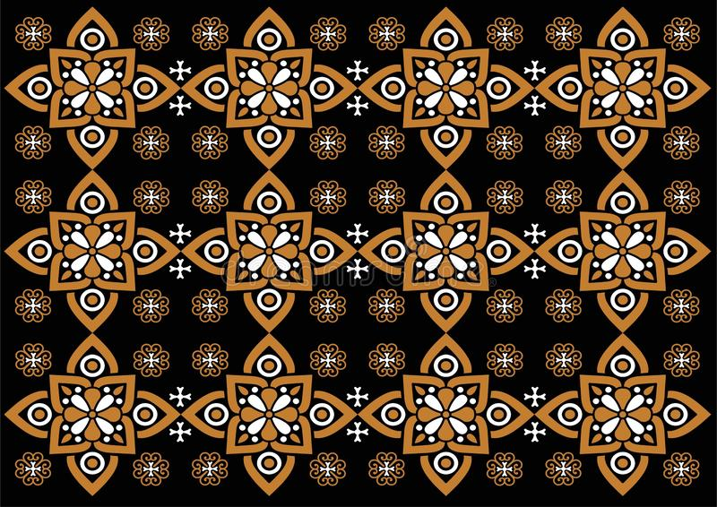 Teste padr?o bonito do ornamento de Indon?sia do Batik ilustração royalty free