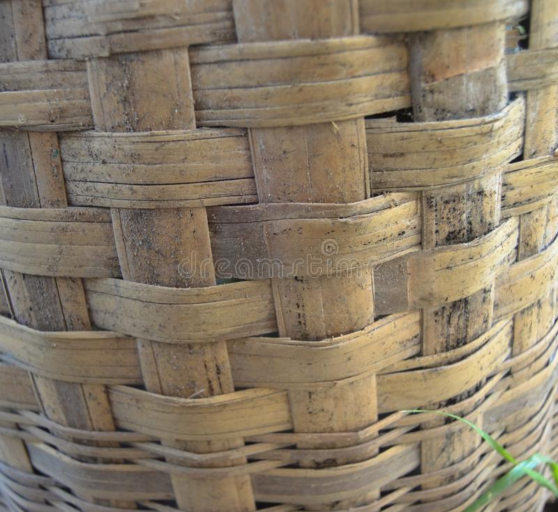 Teste padr?o de bambu tecido fotografia de stock royalty free