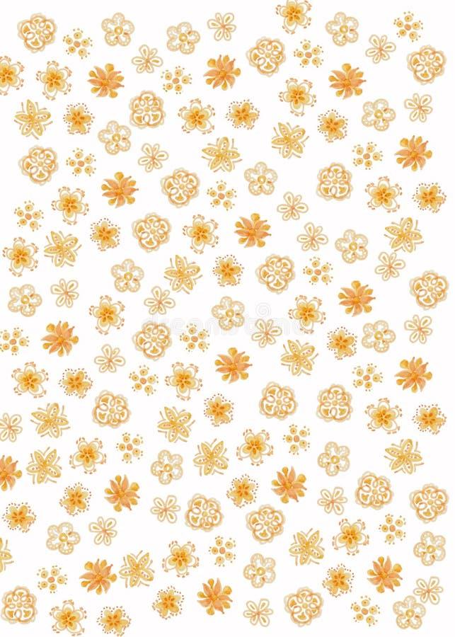 Teste padr?o de flor abstrato ilustração stock