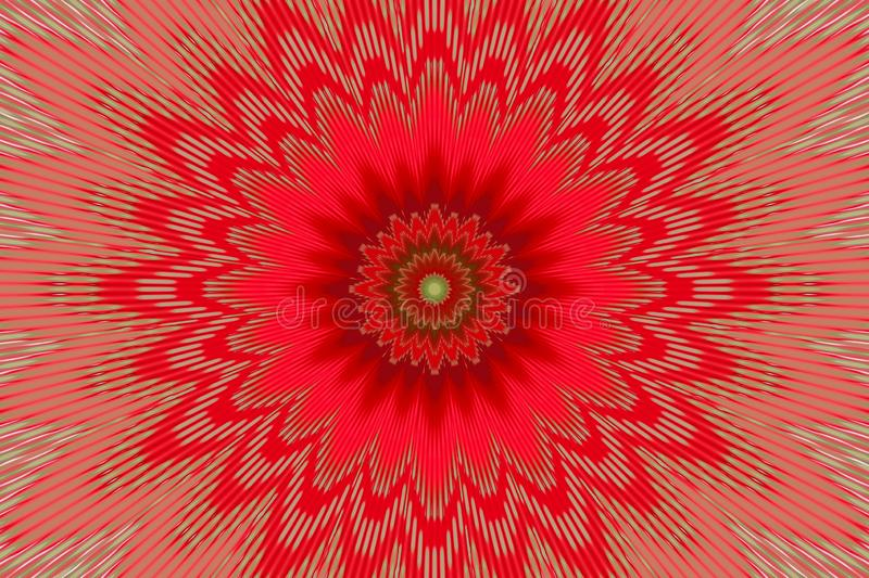 Teste padr?o de flor vermelho do caleidosc?pio do fundo Kalamkari ilustração do vetor
