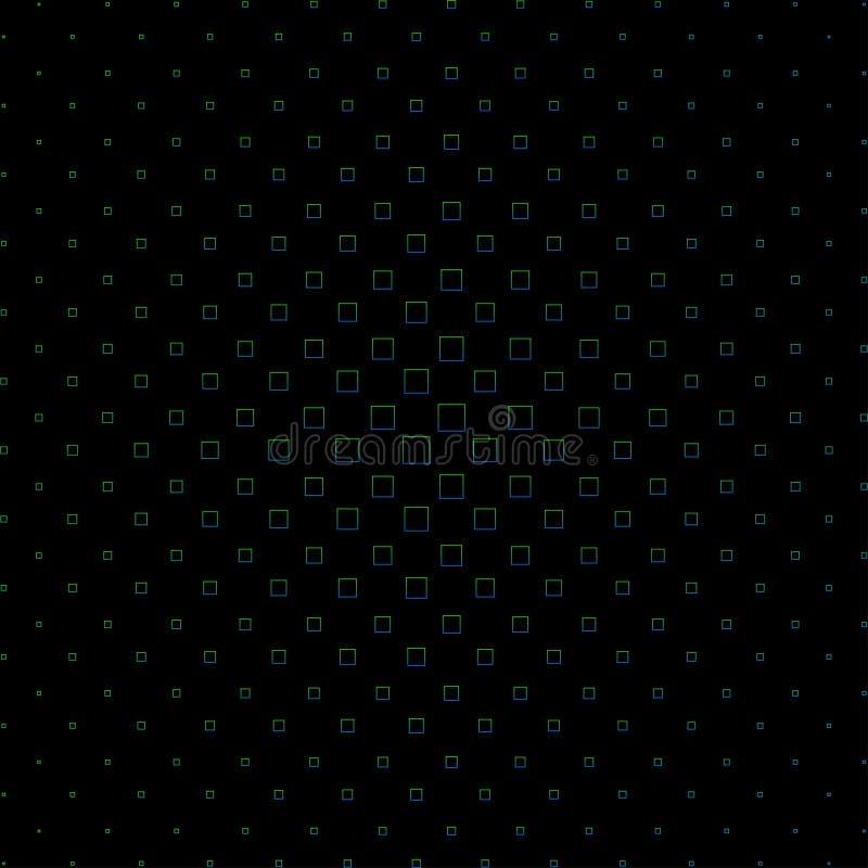 Teste padr?o de intervalo m?nimo abstrato Fundo preto feito de quadrados coloridos ilustração do vetor