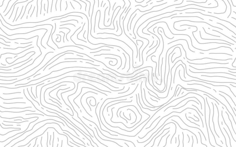 Teste padr?o de madeira sem emenda Textura de madeira da gr?o Linhas densas Luz - fundo cinzento Vetor ilustração stock