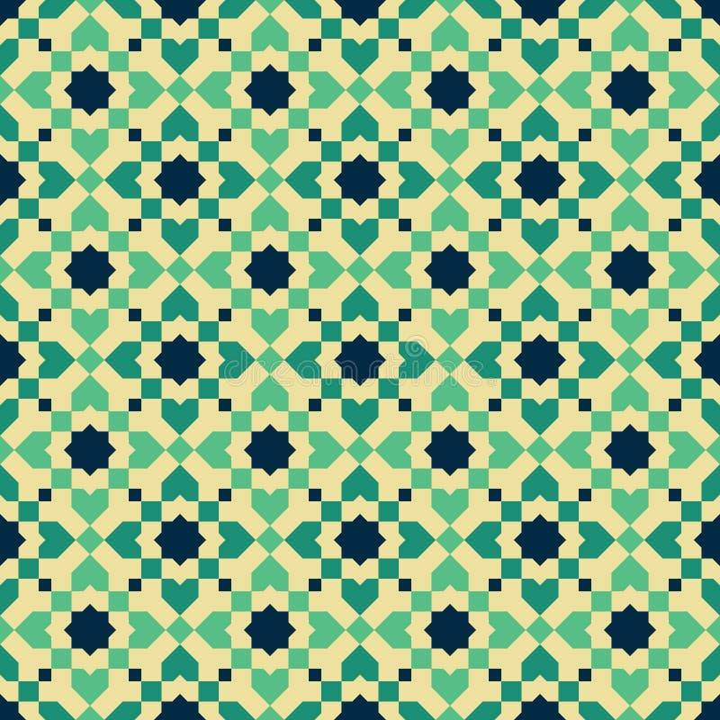 Teste padr?o de mosaico marroquino do estilo fotografia de stock royalty free