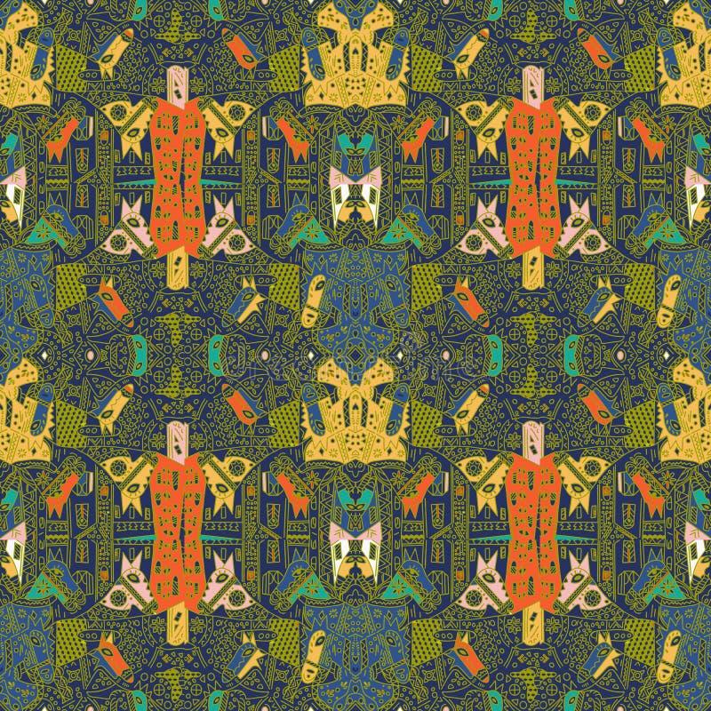 Teste padr?o de Talavera Azulejos Portugal Ornamento turco Mosaico marroquino da telha Porcelana espanhola Utensílios de mesa cer ilustração do vetor