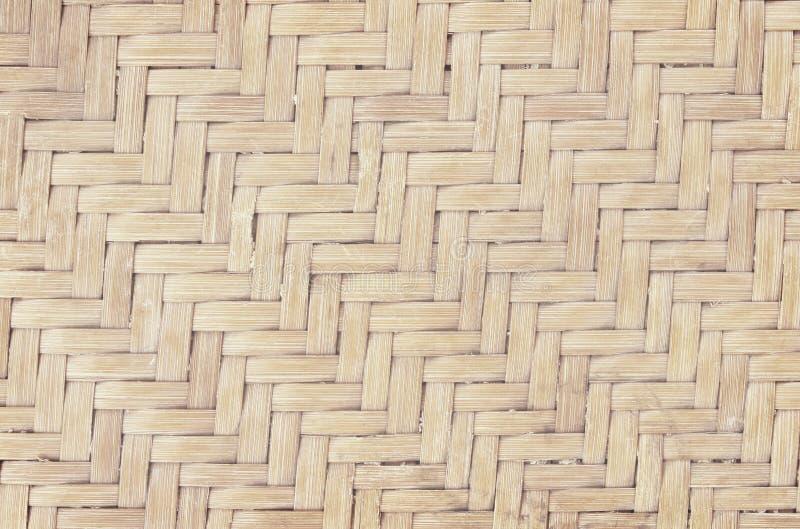 Teste padr?o de tecelagem de bambu velho, textura tecida da esteira do rattan para o fundo e trabalho de arte do projeto foto de stock