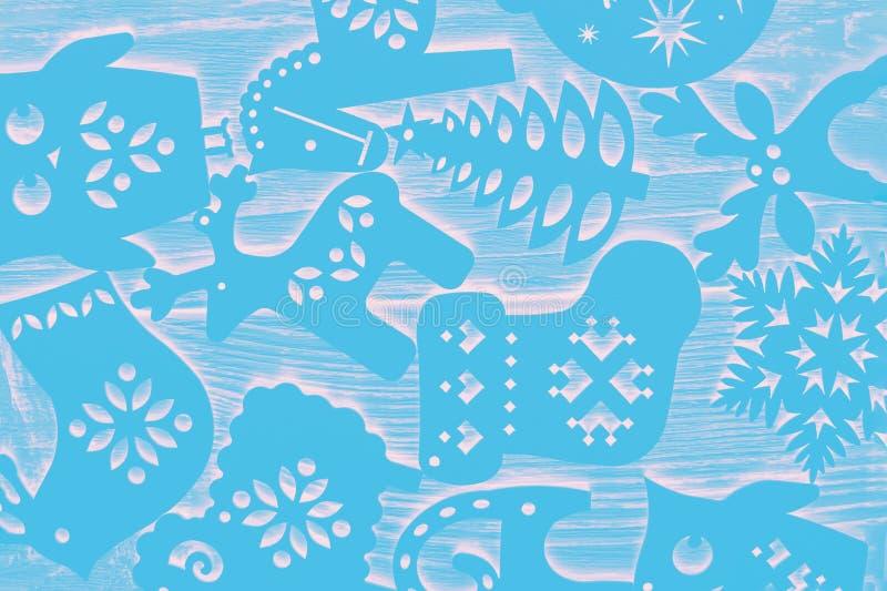 Teste padr?o do inverno Decorações do Natal, fundo abstrato, textura Cor ultra azul imagens de stock royalty free