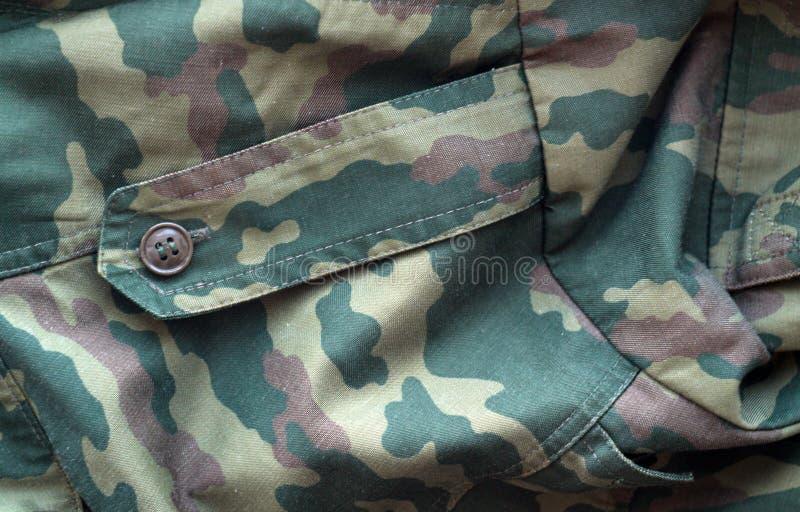 Teste padr?o do uniforme militar com efeito do borr?o fotografia de stock royalty free