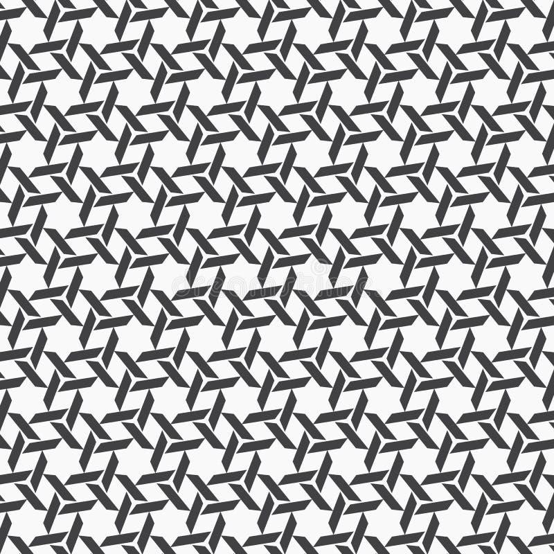 Teste padr?o do vetor Textura à moda moderna com a listra romboide Repetição geométrica na grade sextavada Projeto gr?fico simple ilustração do vetor