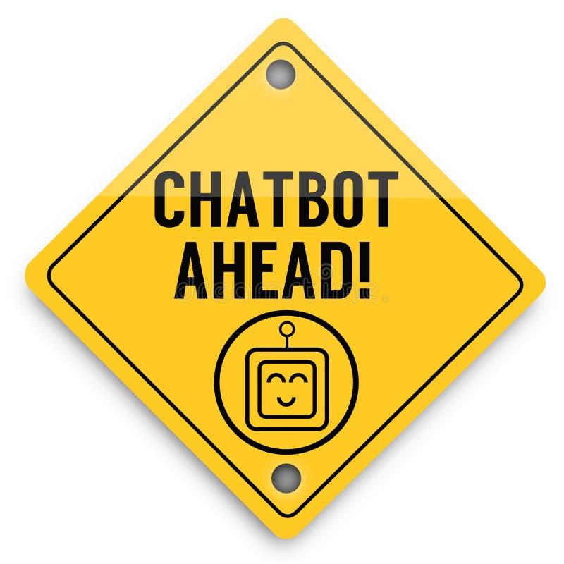 Teste padr?o dos elementos do fundo de Chatbot adiante, cartaz abstrato do neg?cio da qualidade super ilustração royalty free