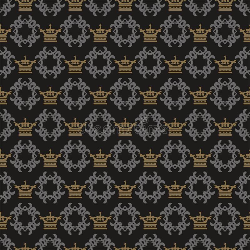 Teste padr?o escuro do fundo Imagem de fundo no estilo real Teste padrão sem emenda, textura do papel de parede, vetor ilustração royalty free