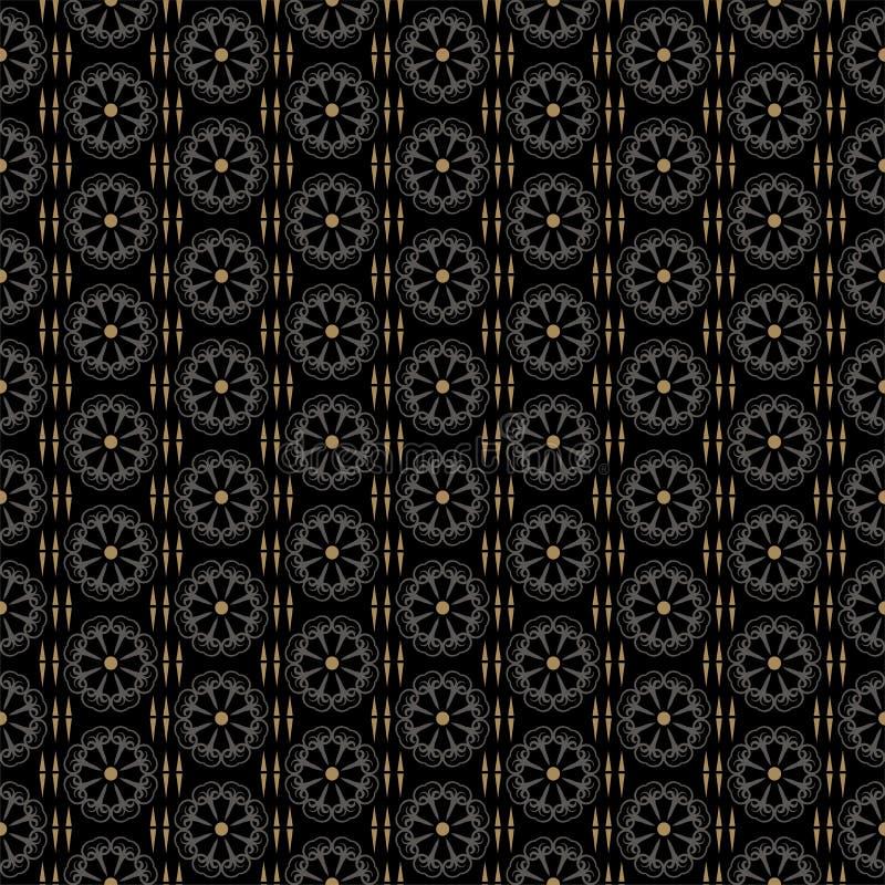 Teste padr?o escuro do fundo Imagem de fundo retro do estilo Teste padrão sem emenda, textura do papel de parede do vintage ilustração royalty free