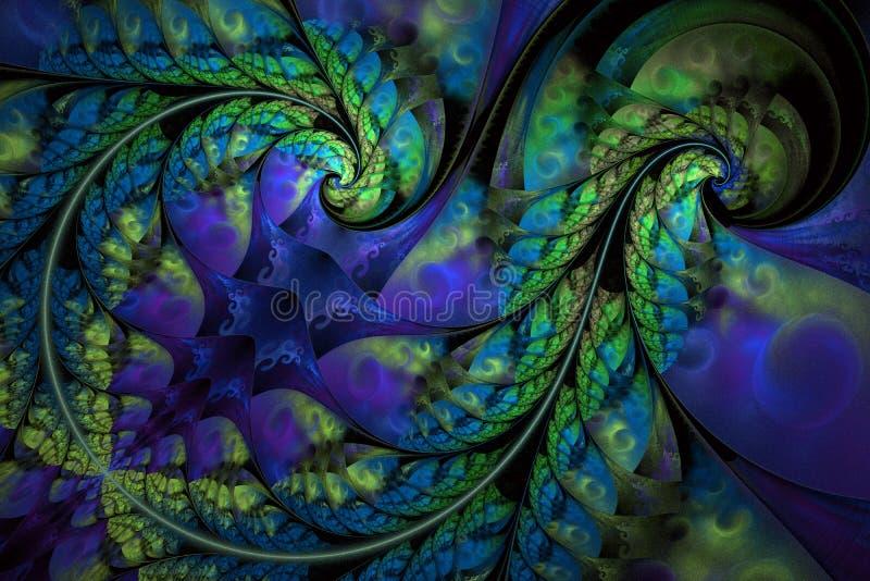 Teste padr?o floral abstrato infinito feericamente Cores brilhantes e textura efervescente ilustração stock