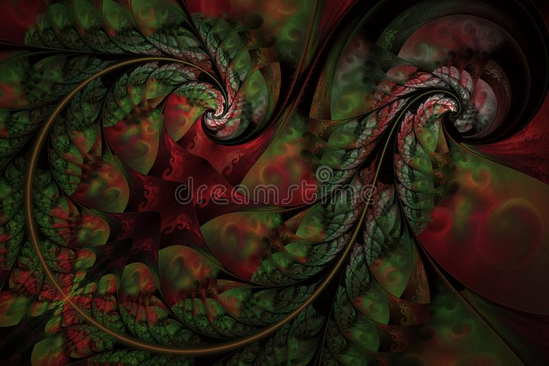 Teste padr?o floral abstrato infinito feericamente Cores brilhantes e textura efervescente ilustração royalty free