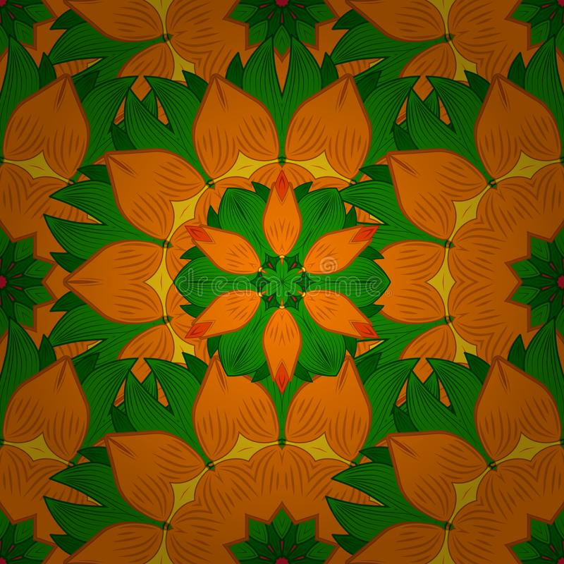 Teste padr?o floral bonito na flor pequena ilustração stock
