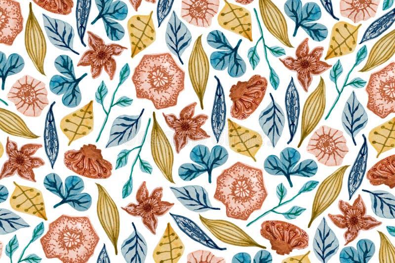 Teste padr?o floral colorido fotografia de stock royalty free
