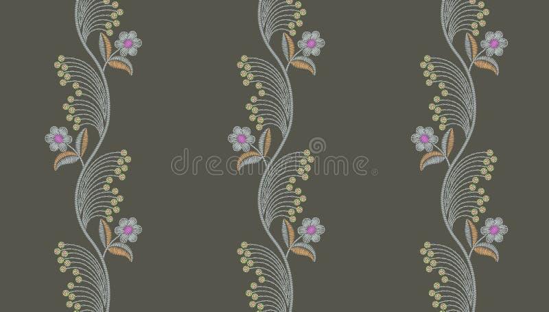 Teste padr?o floral do bordado sem emenda ilustração royalty free