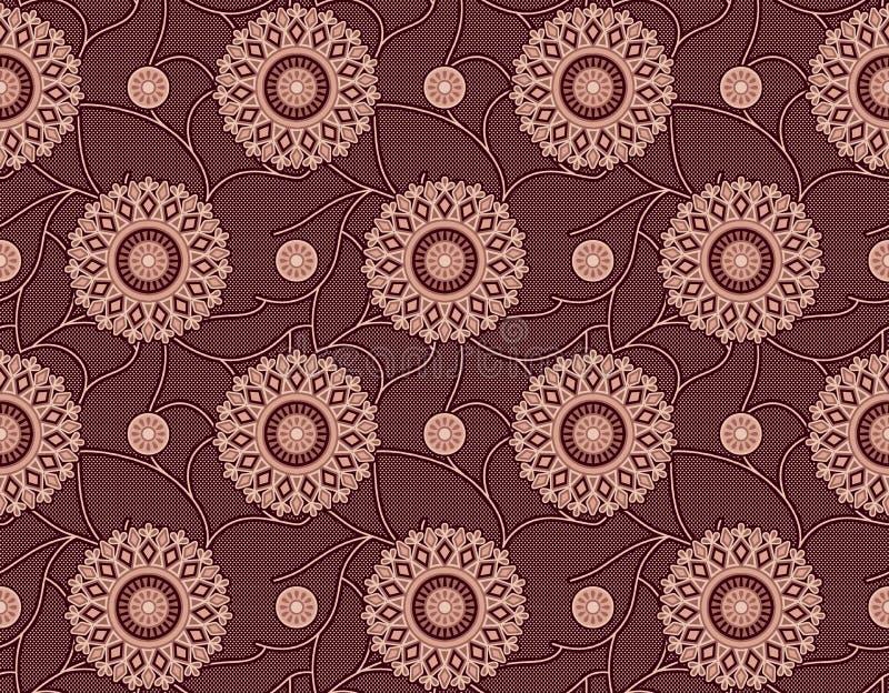 Teste padr?o floral geom?trico sem emenda ilustração royalty free