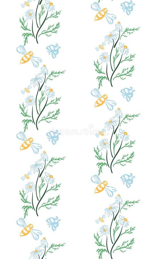 Teste padr?o floral sem emenda na moda no vetor ilustração do vetor