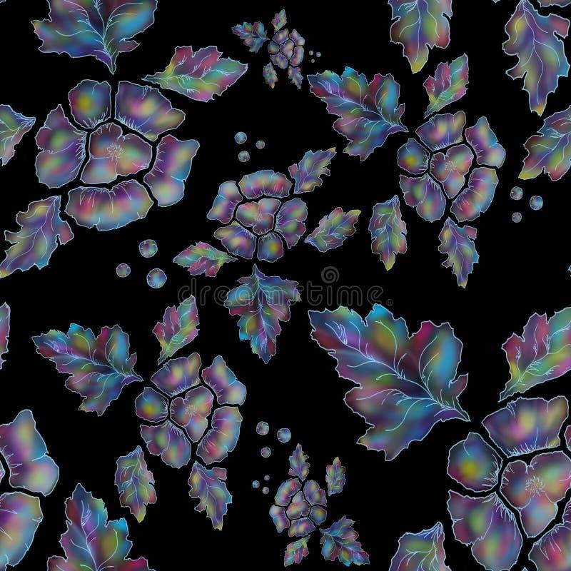 Teste padr?o floral sem emenda Papel de parede ou projeto da tela ilustração do vetor